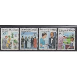 Trinité et Tobago - 1986 - No 547/550 - Royauté - Principauté