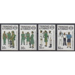 Trinidad and Tobago - 1988 - Nb 577/580 - Military history