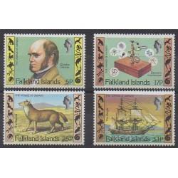 Falkland - 1982 - No 344/347 - Célébrités - Sciences et Techniques