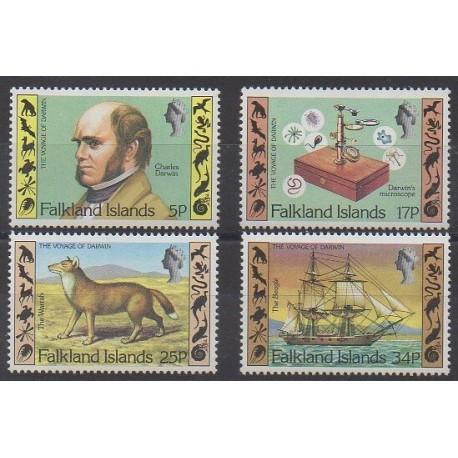 Falkland - 1982 - Nb 344/347 - Celebrities - Science