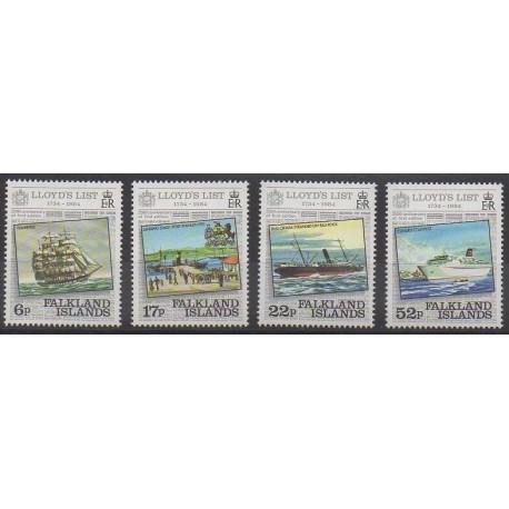 Falkland - 1984 - Nb 420/423 - Boats