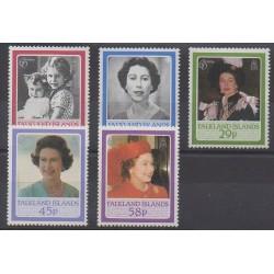 Falkland - 1986 - No 456/460 - Royauté - Principauté