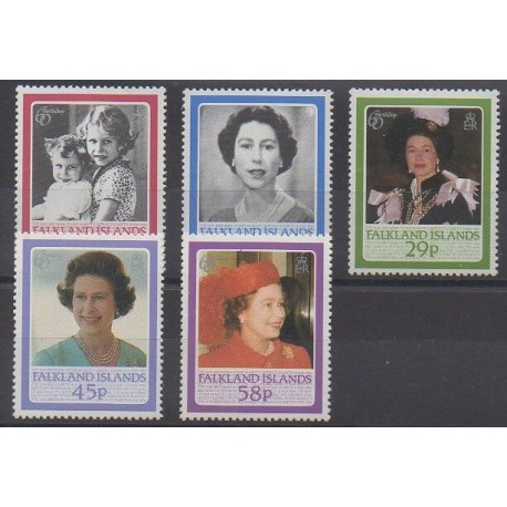 Falkland - 1986 - Nb 456/460 - Royalty