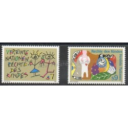 Nations Unies (ONU - Vienne) - 1991- No 125/126 - Enfance