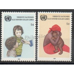 Nations Unies (ONU - Vienne) - 1985- No 53/54 - Enfance