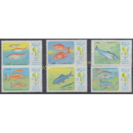 Laos - 1983 - No 493/498 - Poissons