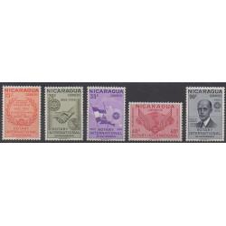 Nicaragua - 1955 - No 781/785 - Rotary ou Lions club