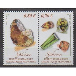 French Southern and Antarctic Territories - Post - 2016 - Nb 761/762 - Minerals - Gems