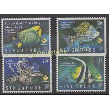 Singapore - 1995 - Nb 753/756 - Fishes