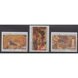 Central African Republic - 1986 - Nb PA350/PA352 - Paintings - Christmas