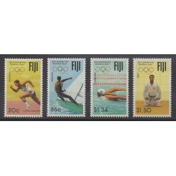 Fidji - 1992 - No 674/677 - Jeux Olympiques d'été