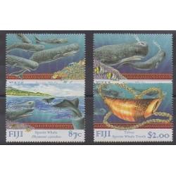 Fiji - 1998 - Nb 844/847 - Mamals - Sea animals