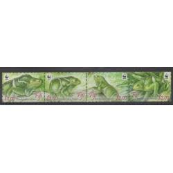 Fiji - 2010 - Nb 1224/1227 - Reptils - Endangered species - WWF