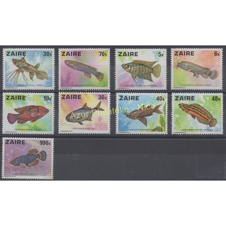 Zaïre - 1978 - No 900/908 - Poissons