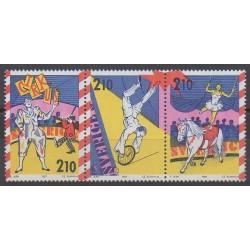 Suède - 1987 - No 1436/1438 - Cirque