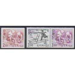 Suède - 1989 - No 1521/1523 - Enfance - Europa
