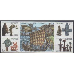 Sweden - 1990 - Nb 1575/1582 - Boats - Various Historics Themes