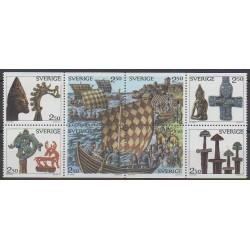 Suède - 1990 - No 1575/1582 - Navigation - Histoire