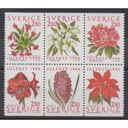 Suède - 1990 - No 1625/1630 - Fleurs