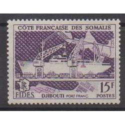 Somali Coast - 1956 - Nb 285 - Boats