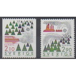 Suède - 1986 - No 1377/1378 - Environnement - Europa