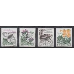 Suède - 1987 - No 1406/1409 - Insectes