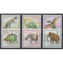 Hungary - 1990 - Nb 3293/3298 - Prehistoric animals