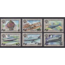 Fidji - 1983 - No 482/487 - Ballons - Dirigeables - Aviation