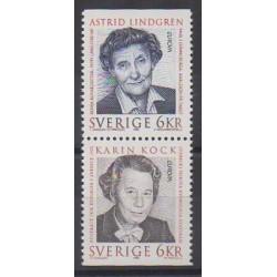 Suède - 1996 - No 1925/1926 - Célébrités - Europa