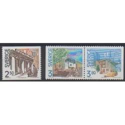 Suède - 1990 - No 1571/1573 - Service postal - Europa