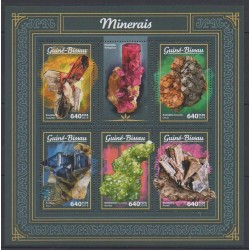 Guinea-Bissau - 2018 - Nb 7332/7336 - Minerals - Gems
