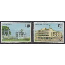 Fiji - 1983 - Nb 492A/492B - Postal Service - Monuments