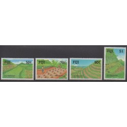 Fidji - 1990 - No 621/624 - Sites