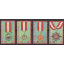 Fidji - 2008 - No 1168/1171 - Monnaies, billets ou médailles