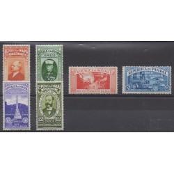 Panama - 1937 - Nb 200/205 - Firemen - Mint hinged