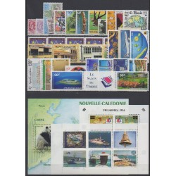 New Caledonia - Complete year - 1994 - Nb 654/679 - PA310/PA326 - BF16