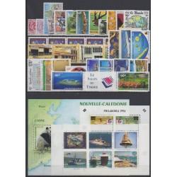 Nouvelle-Calédonie - Année complète - 1994 - No 654/679 - PA310/PA326 - BF16