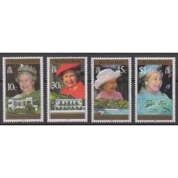 Vierges (Iles) - 1996 - No 799/802 - Royauté - Principauté
