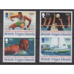 Vierges (Iles) - 1996 - No 803/806 - Jeux Olympiques d'été