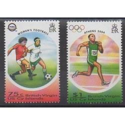 Vierges (Iles) - 2004 - No 1012/1013 - Jeux Olympiques d'été - Football
