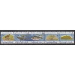 Tristan da Cunha - 2006 - Nb 817/821 - Sea animals