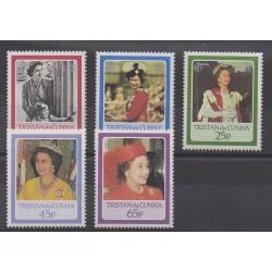 Tristan da Cunha - 1986 - No 384/388 - Royauté - Principauté