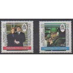 Tristan da Cunha - 1986 - No 392/393 - Royauté - Principauté