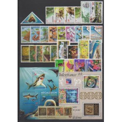 New Caledonia - Complete year - 1999 - Nb 783/811 - PA347 - BF21/BF22
