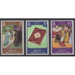 Vierges (Iles) - 1977 - No 315/317 - Royauté - Principauté