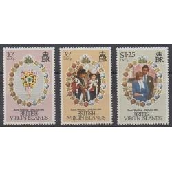 Vierges (Iles) - 1981 - No 413/415 - Royauté - Principauté