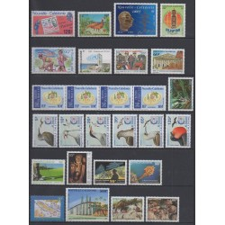New Caledonia - Complete year - 1995 - Nb 680/702 - PA327/PA330