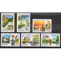 Timbres - Thème sites - Russie - 2006- No 6955/6960