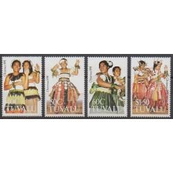 Tuvalu - 1991 - Nb 575/578 - Costumes - Uniforms - Fashion