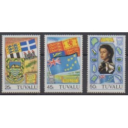 Tuvalu - 1982 - Nb 181/183 - Coats of arms - Flags